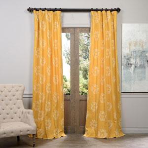 Isles Mustard Printed Cotton Curtain 120 x 50