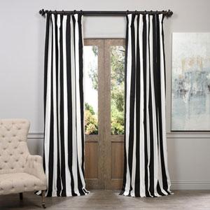 Cabana Black Printed Cotton Curtain 50 x 96