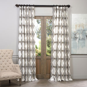 Sorong Grey 50 x 108-Inch Printed Curtain