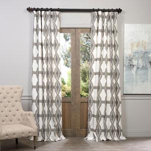 Sorong Grey 50 x 120-Inch Printed Curtain