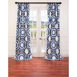 Mecca Blue 108 x 50-Inch Curtain Single Panel