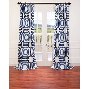 Mecca Blue 84 x 50-Inch Curtain Single Panel