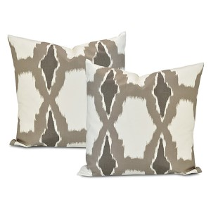 Sorong Grey Printed Cotton Cushion Cover, Set of Two