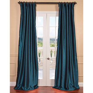 Mediterranean 84 x 50-Inch Blackout Faux Silk Taffeta Curtain Single Panel
