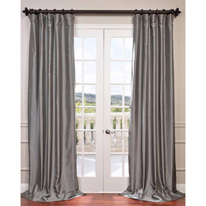 Platinum 84 x 50-Inch Blackout Faux Silk Taffeta Curtain Single Panel