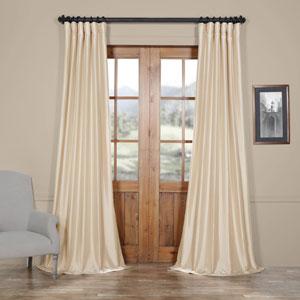 Antique Beige Faux Silk Taffeta Single Panel Curtain, 50 X 120