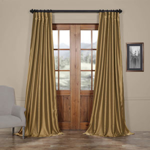 Yellow 50 x 108-Inch Taffeta Curtain