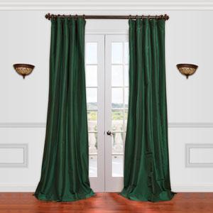 Emerald Green 50 x 84-Inch Taffeta Curtain