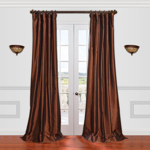 Copper Brown 50 x 108-Inch Taffeta Curtain