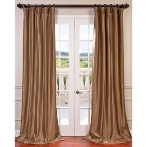 Gold Nugget 96 x 50-Inch Blackout Faux Silk Taffeta Curtain Single Panel