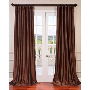 Copper Brown 96 x 50-Inch Blackout Faux Silk Taffeta Curtain Single Panel