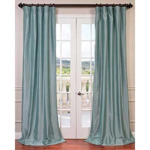 Robins Egg Blue 120 x 50-Inch Blackout Faux Silk Taffeta Curtain Single Panel