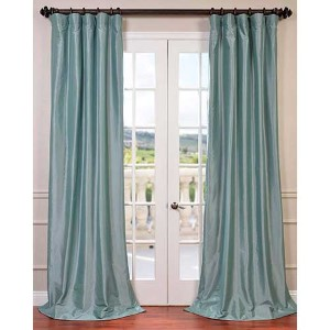 Robins Egg Blue 84 x 50-Inch Blackout Faux Silk Taffeta Curtain Single Panel