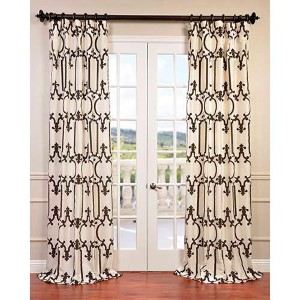 Royal Gate Ivory 96 x 50-Inch Curtain Single Panel