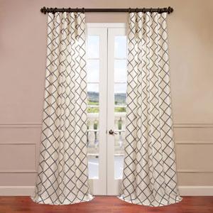 Pavillion Ivory 50 x 96-Inch Flocked Curtain