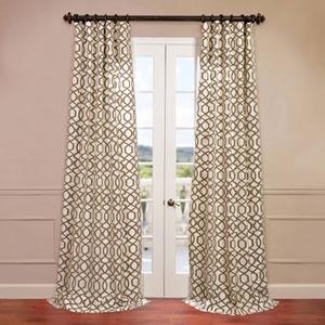 Filigree Ivory 50 x 96-Inch Flocked Curtain