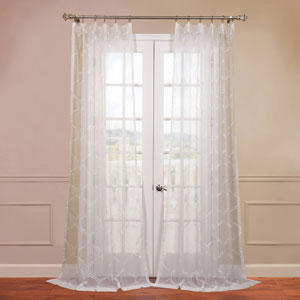 Florentina White 50 x 120-Inch Sheer Curtain