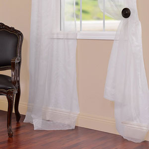 Organza Off White 50 x 120-Inch Sheer Curtain Pair 2 Panel