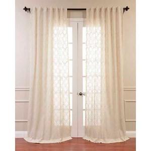 Saida Natural Brown 84 x 50-Inch Curtain Single Panel