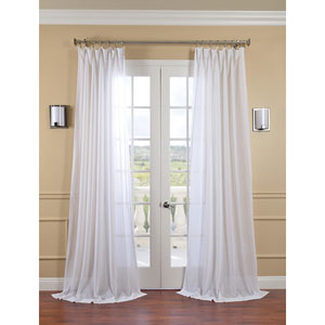 White Orchid Faux Linen Sheer Single Panel Curtain Panel, 50 X 120
