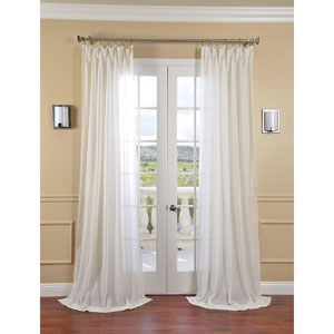Gardenia Faux Linen Sheer Single Panel Curtain Panel, 50 X 96