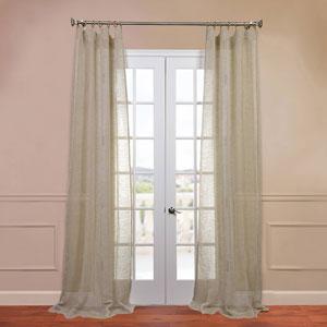 Open Weave Natural 50 x 108-Inch Linen Sheer Curtain