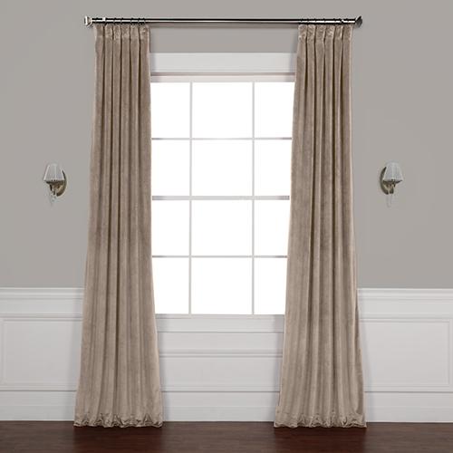 Brown 108 x 50 In. Plush Velvet Curtain Single Panel