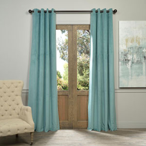 Signature Aqua Mist 120 x 50-Inch Grommet Blackout Curtain Single Panel