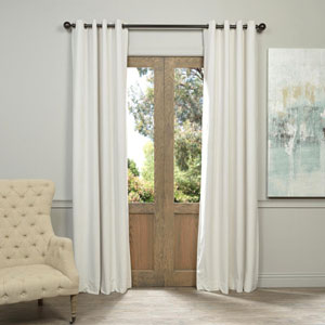 Signature Grommet Off White 50 x 108-Inch Blackout Curtain