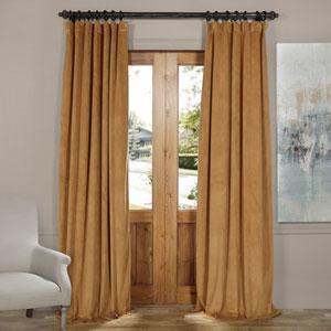 Amber Gold 120 x 50-Inch Blackout Velvet Curtain