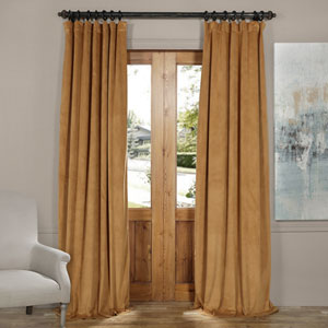 Amber Gold 84 x 50-Inch Blackout Velvet Curtain