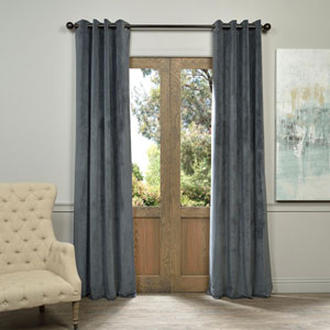 Signature Grommet Grey 84-Inch Blackout Curtain