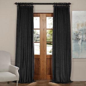 Gunmetal Gray 84 x 100-Inch Doublewide Blackout Velvet Curtain