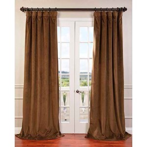 Signature Brown 120 x 50-Inch Blackout Curtain Single Panel