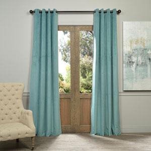 Signature Aqua Mist 84 x 50-Inch Grommet Blackout Curtain Single Panel