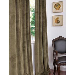 Signature Hunter Green Blackout Velvet Pole Pocket Single Panel Curtain, 50 X 96