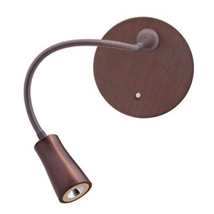 Epiphanie Bronze One-Light LED Swing Arm Wall Light