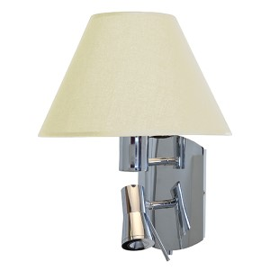 Cyprus Chrome One-Light 15.5-Inch Wide Fluorescent Wall Sconce