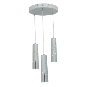Rain Chrome Three-Light Pendant