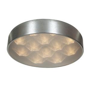 Meteor Brushed Silver 18-Inch Wide LED Flush Mount