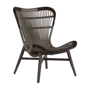 Nolan Chair Natural Gray Leather 30-Inch Dining Chair