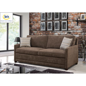Sabrina Convertible Sofa in Brown