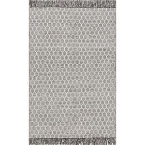 Grey Handmade Edris Tassel Rectangular: 7 Ft. 6 In. x 9 Ft. 6 In.