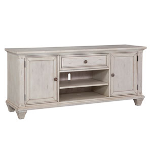 Sedona Antique Cobblestone White 66-Inch TV Console