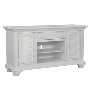 Eggshell White 60-Inch TV Console