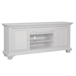 Eggshell White 72-Inch TV Console