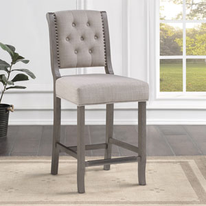 Kamelin Gray and Beige Counter Stool