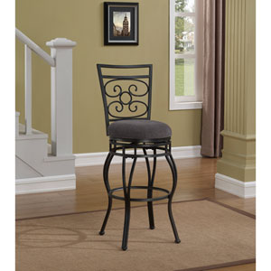 American Woodcrafters Filmore Slate Grey Counter Stool