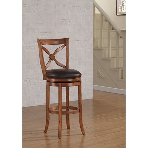 Provence Nutmeg Bar Stool with Bourbon Bonded Leather Seat