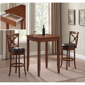 Provence 3 Piece Pub Height Table Set